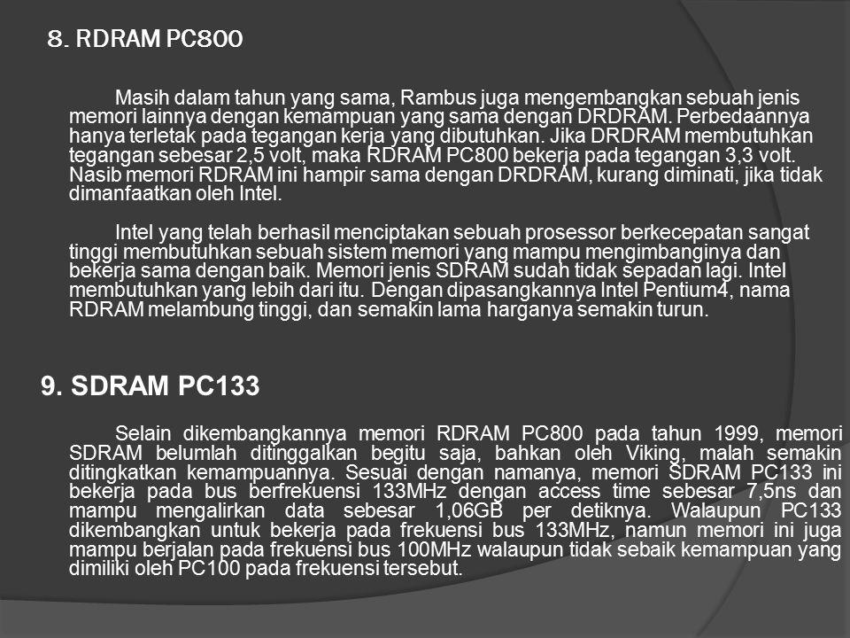 8. RDRAM PC800