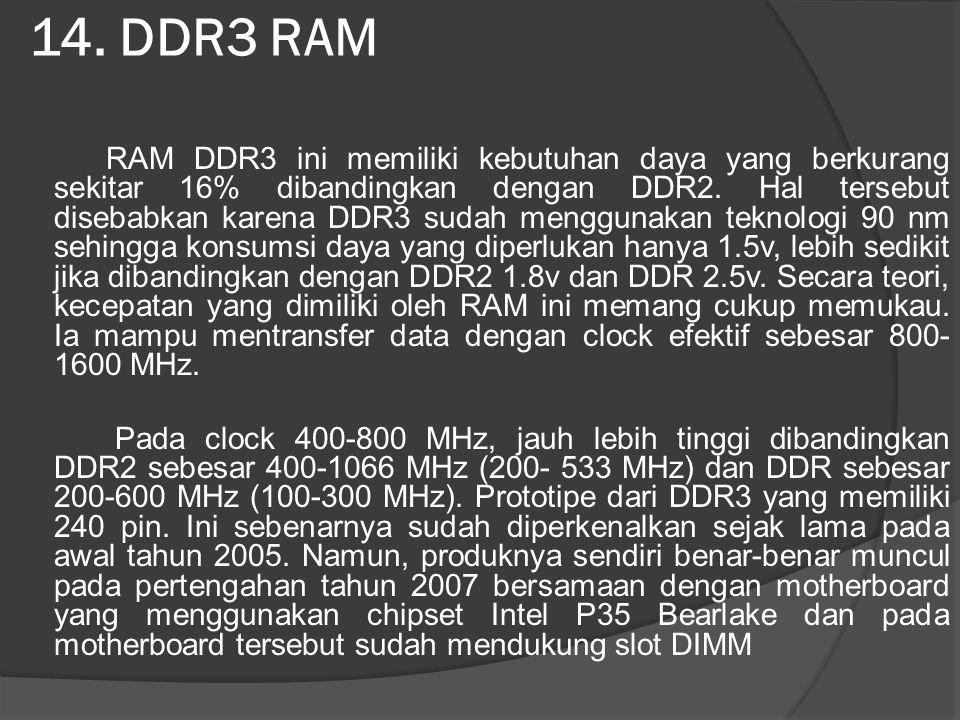 14. DDR3 RAM