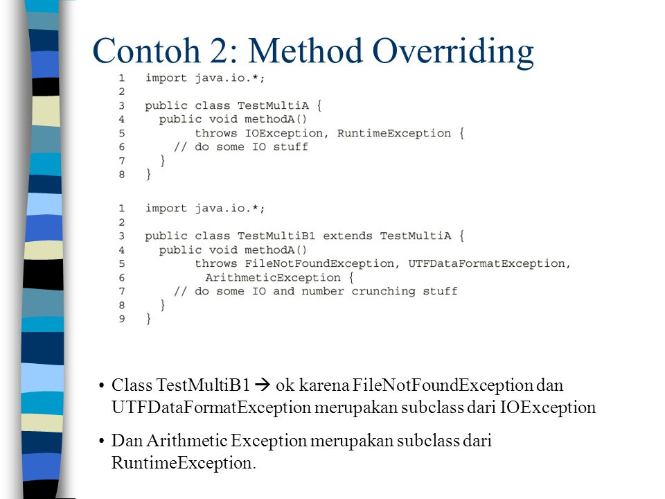 Contoh 2: Method Overriding