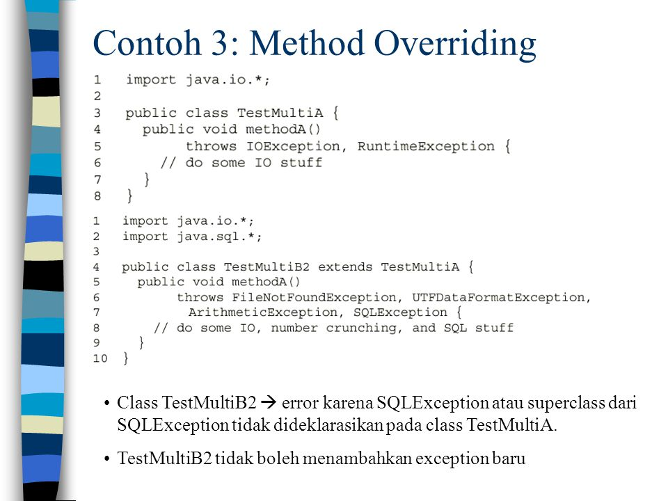 Contoh 3: Method Overriding