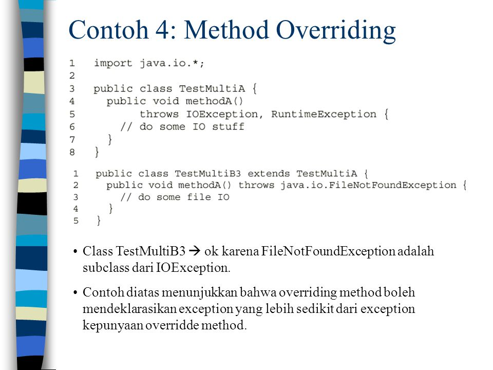 Contoh 4: Method Overriding