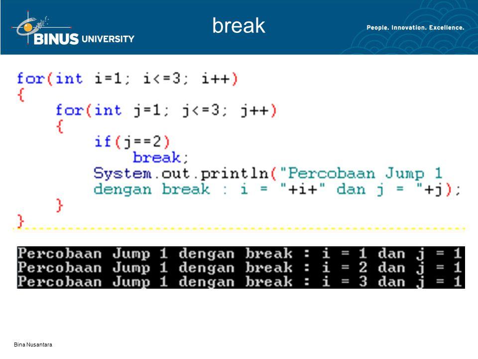 break Bina Nusantara