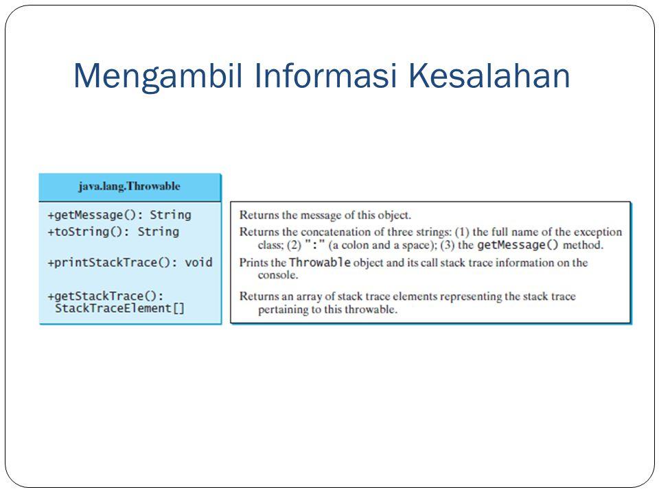 Mengambil Informasi Kesalahan
