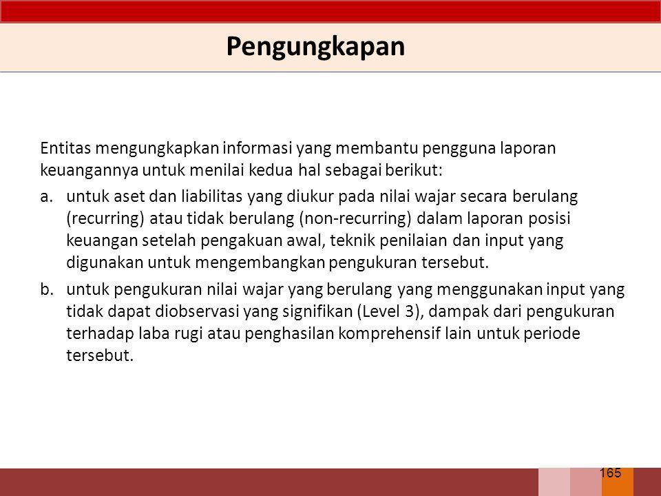 Pengungkapan Entitas mengungkapkan informasi yang membantu pengguna laporan keuangannya untuk menilai kedua hal sebagai berikut: