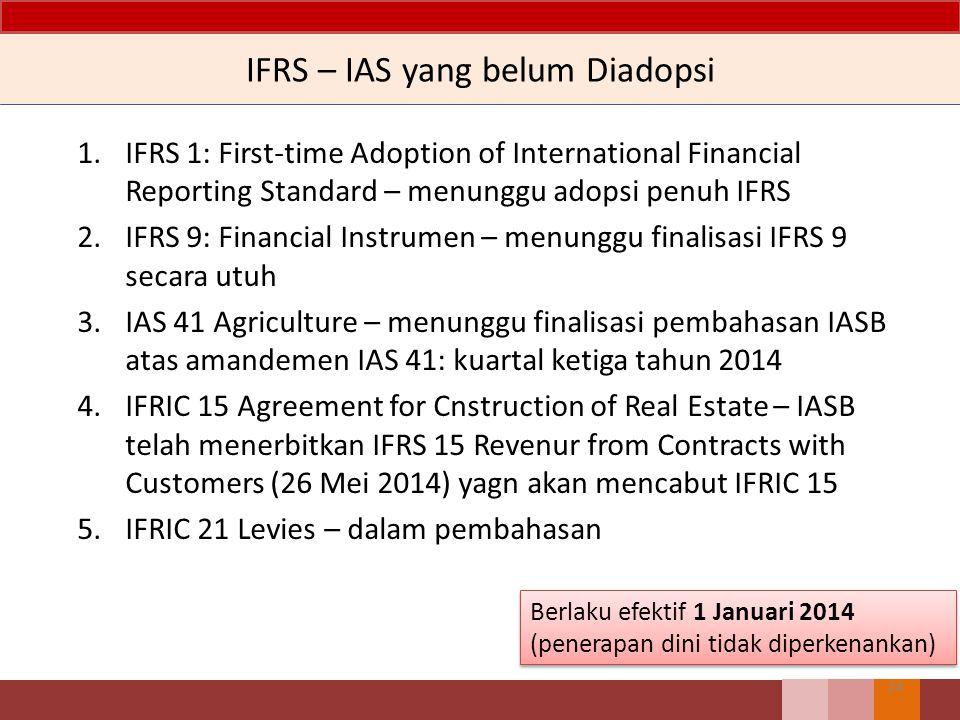 IFRS – IAS yang belum Diadopsi
