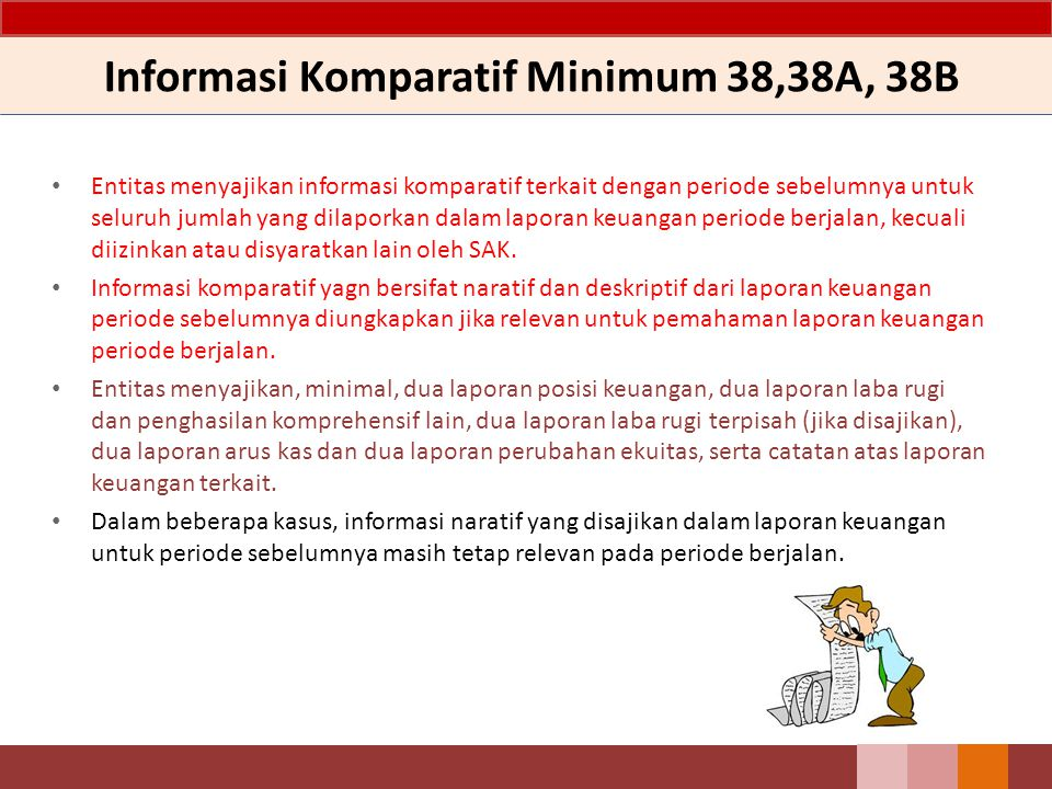 Informasi Komparatif Minimum 38,38A, 38B