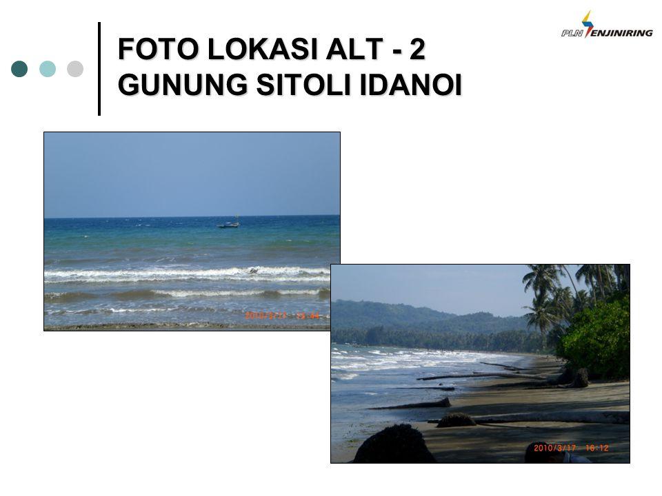 FOTO LOKASI ALT - 2 GUNUNG SITOLI IDANOI