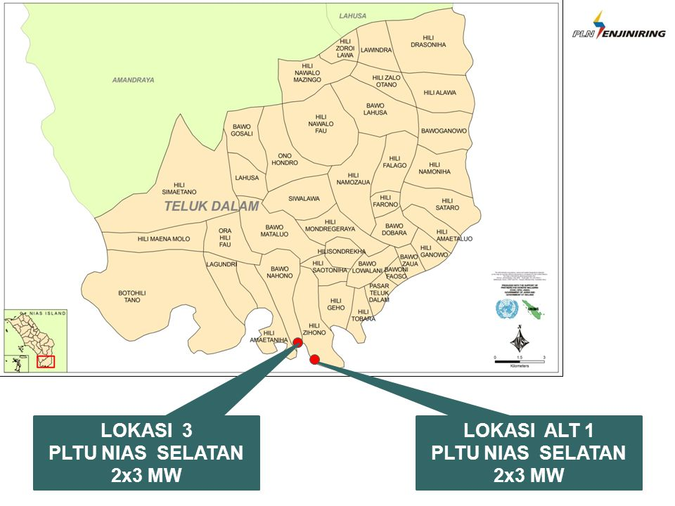 LOKASI 3 PLTU NIAS SELATAN 2x3 MW LOKASI ALT 1 PLTU NIAS SELATAN 2x3 MW