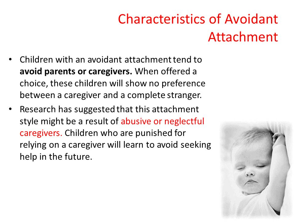 Characteristics of Avoidant Attachment