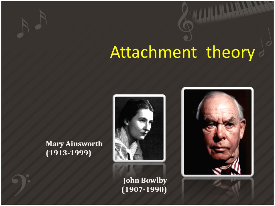 Attachment theory Mary Ainsworth (1913-1999) John Bowlby (1907-1990)