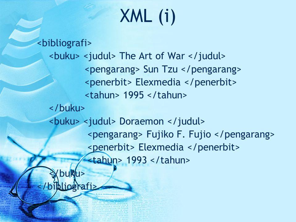 XML (i) <bibliografi>