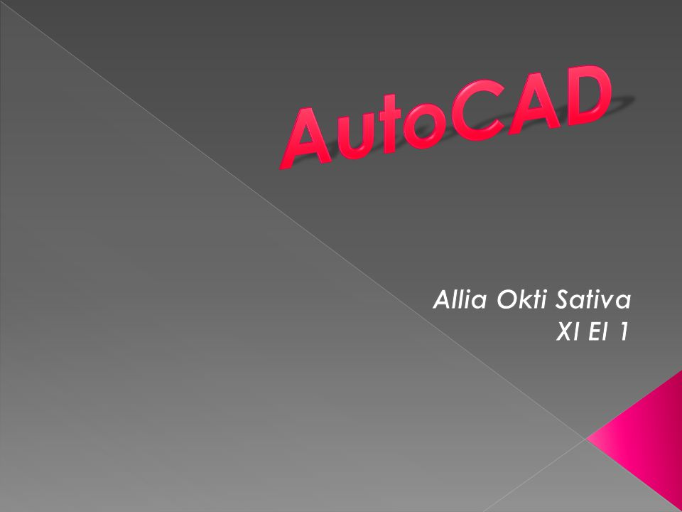 AutoCAD Allia Okti Sativa XI EI 1
