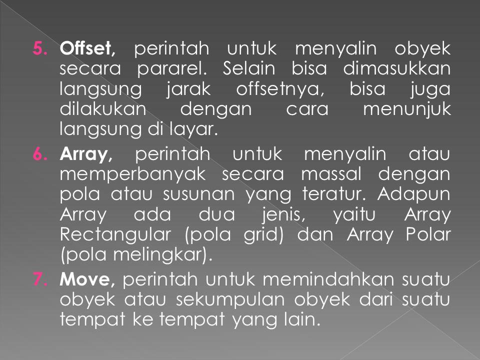 Offset, perintah untuk menyalin obyek secara pararel