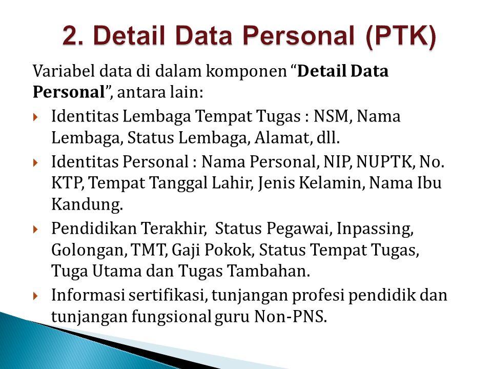 2. Detail Data Personal (PTK)