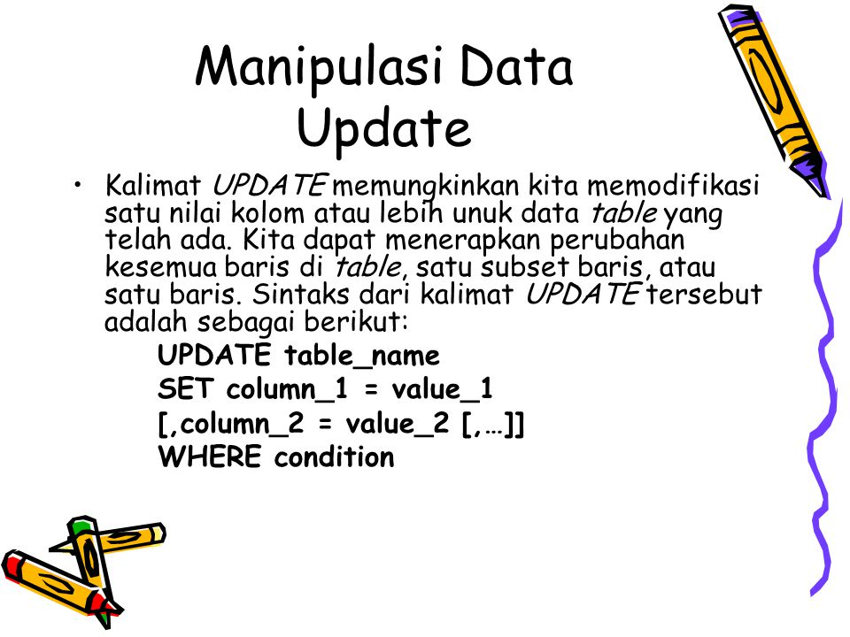Manipulasi Data Update