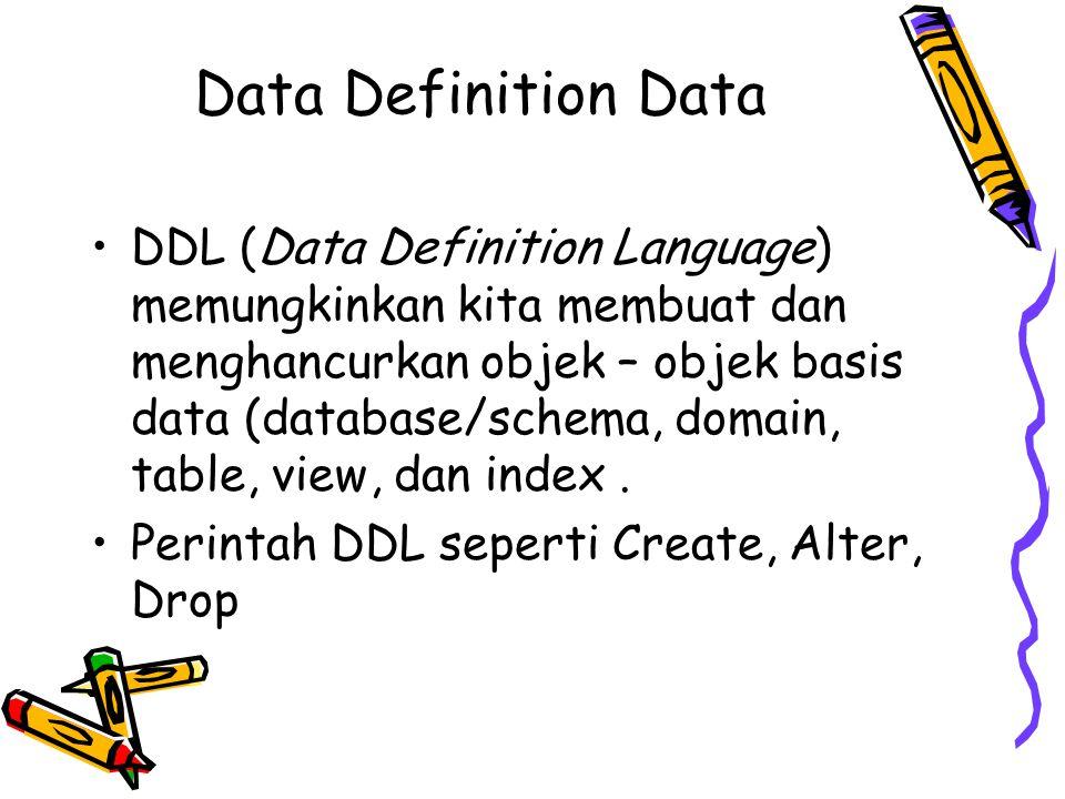 Data Definition Data