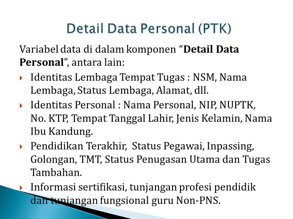 Detail Data Personal (PTK)