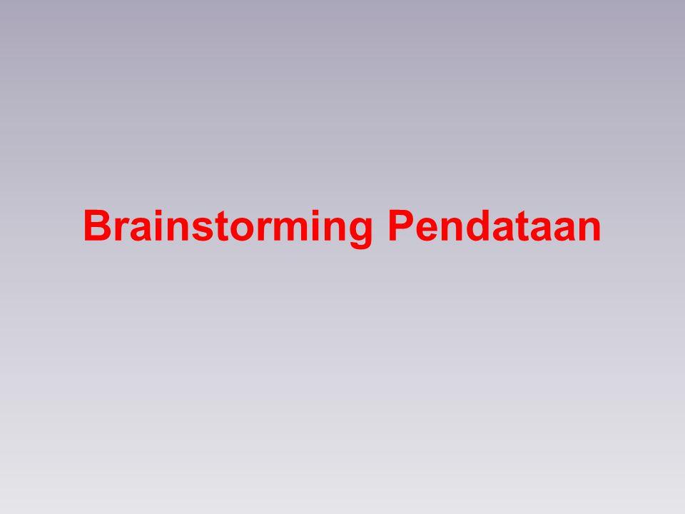 Brainstorming Pendataan