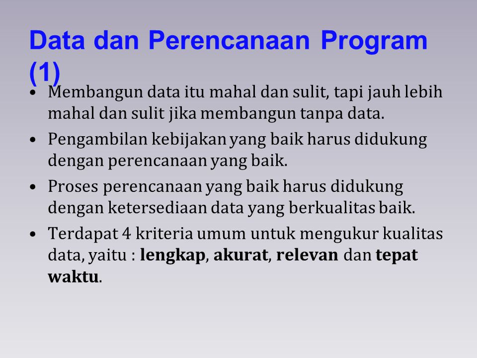 Data dan Perencanaan Program (1)
