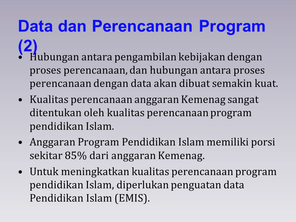 Data dan Perencanaan Program (2)