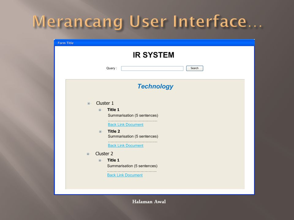 Merancang User Interface…
