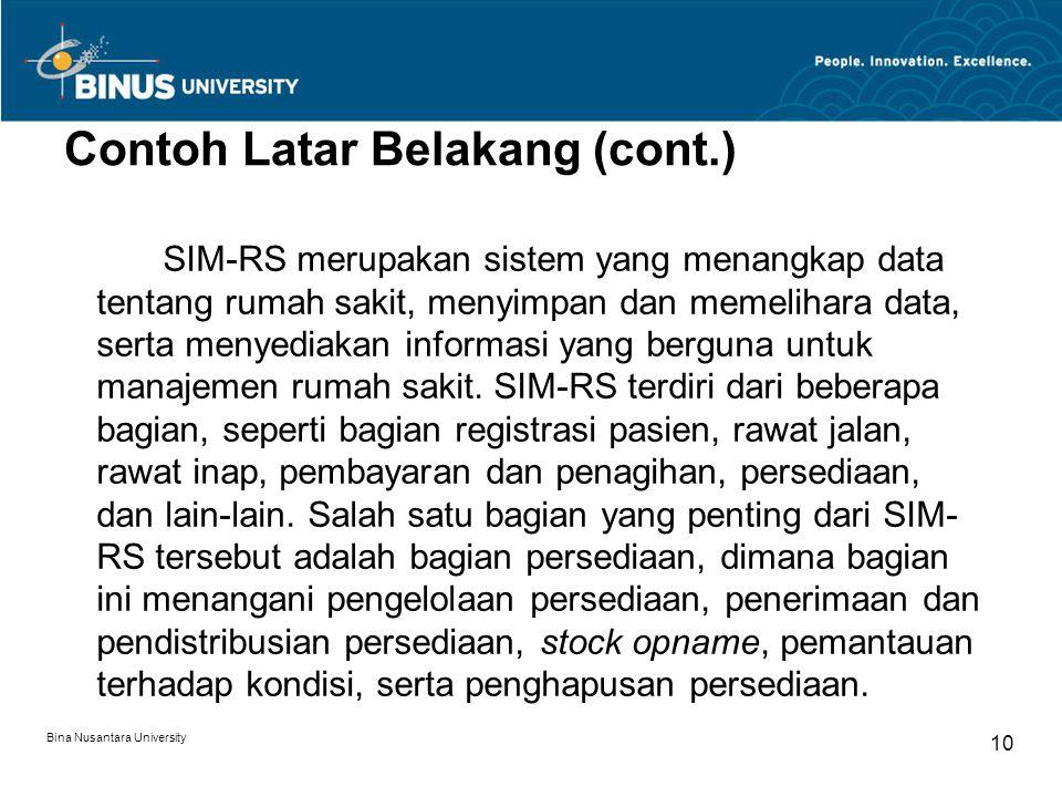 Contoh Latar Belakang (cont.)