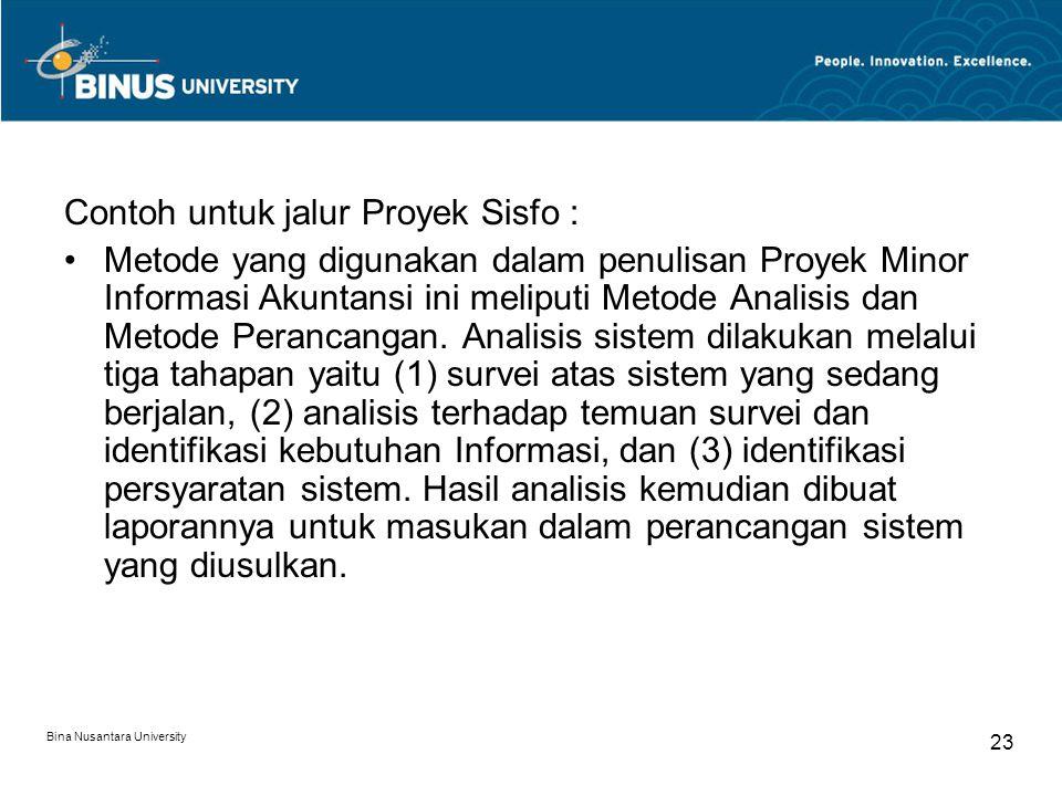 Contoh untuk jalur Proyek Sisfo :