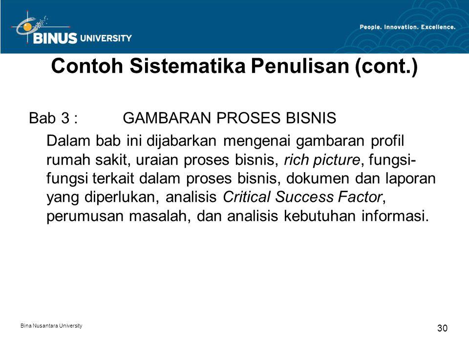 Contoh Sistematika Penulisan (cont.)