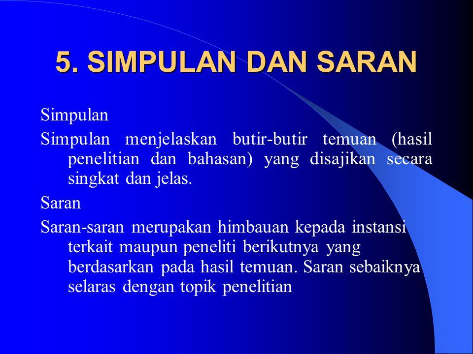 5. SIMPULAN DAN SARAN Simpulan