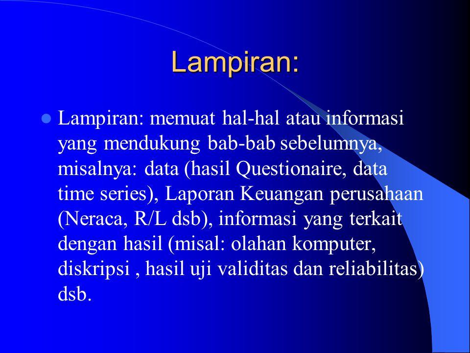 Lampiran: