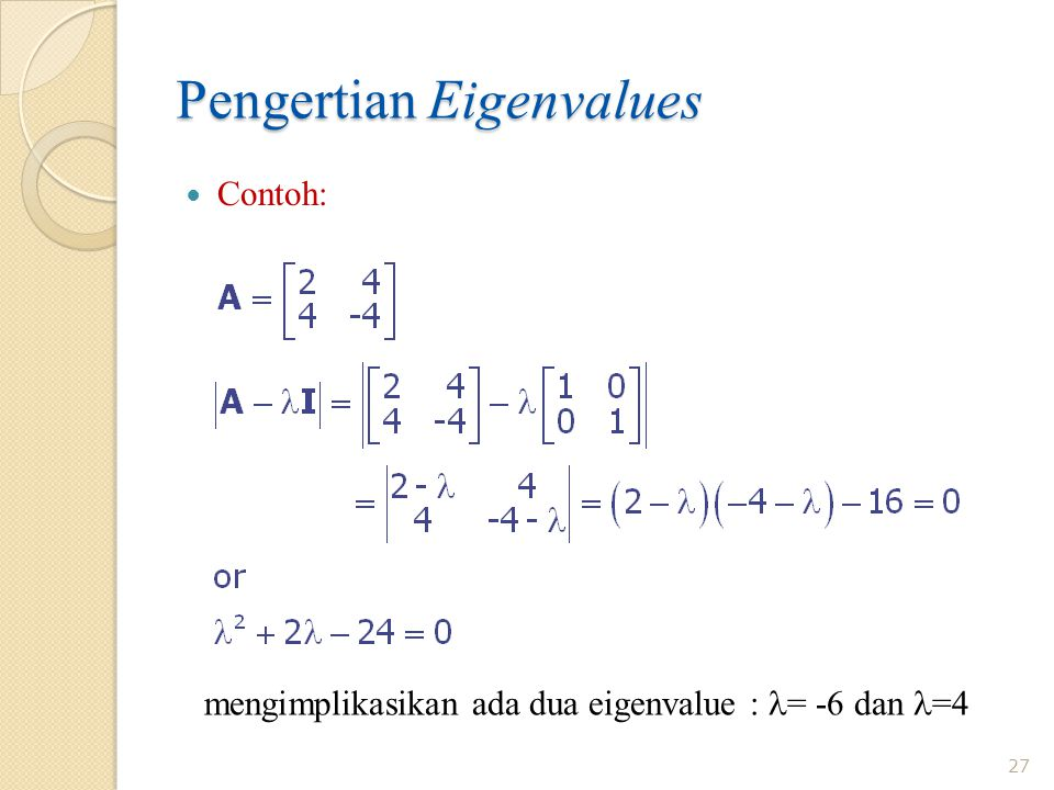 Pengertian Eigenvalues