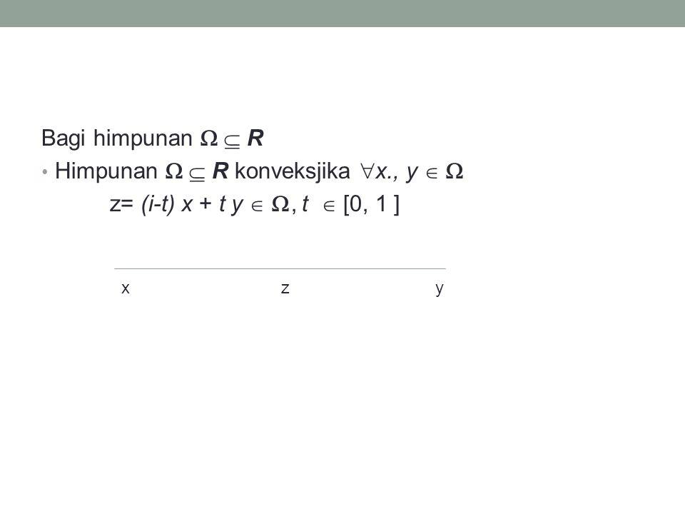 Himpunan   R konveksjika x., y  