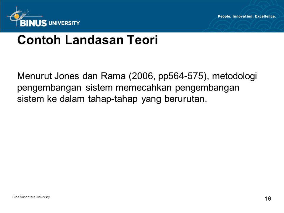 Contoh Landasan Teori