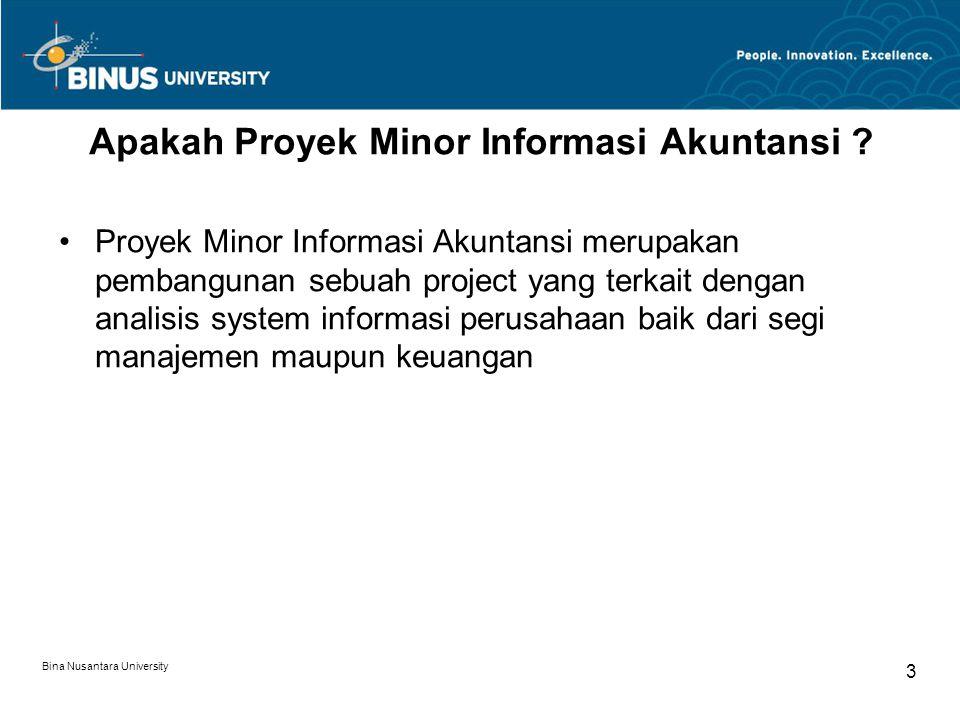 Apakah Proyek Minor Informasi Akuntansi