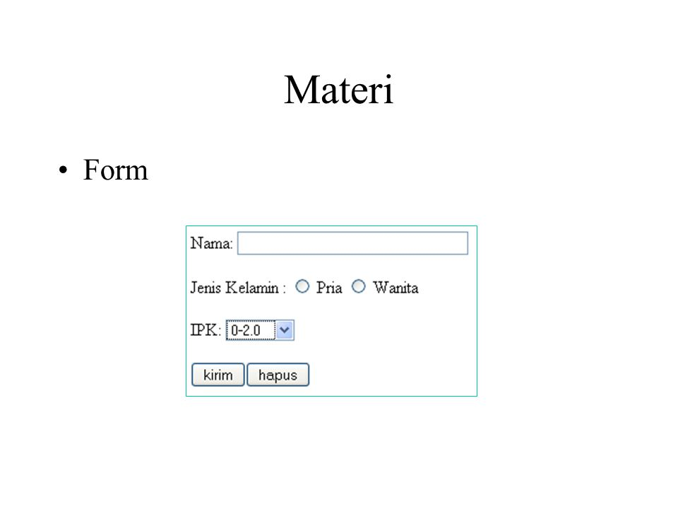 Materi Form