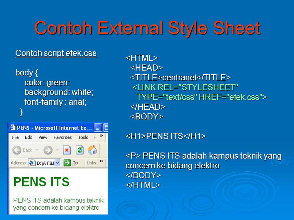 Contoh External Style Sheet