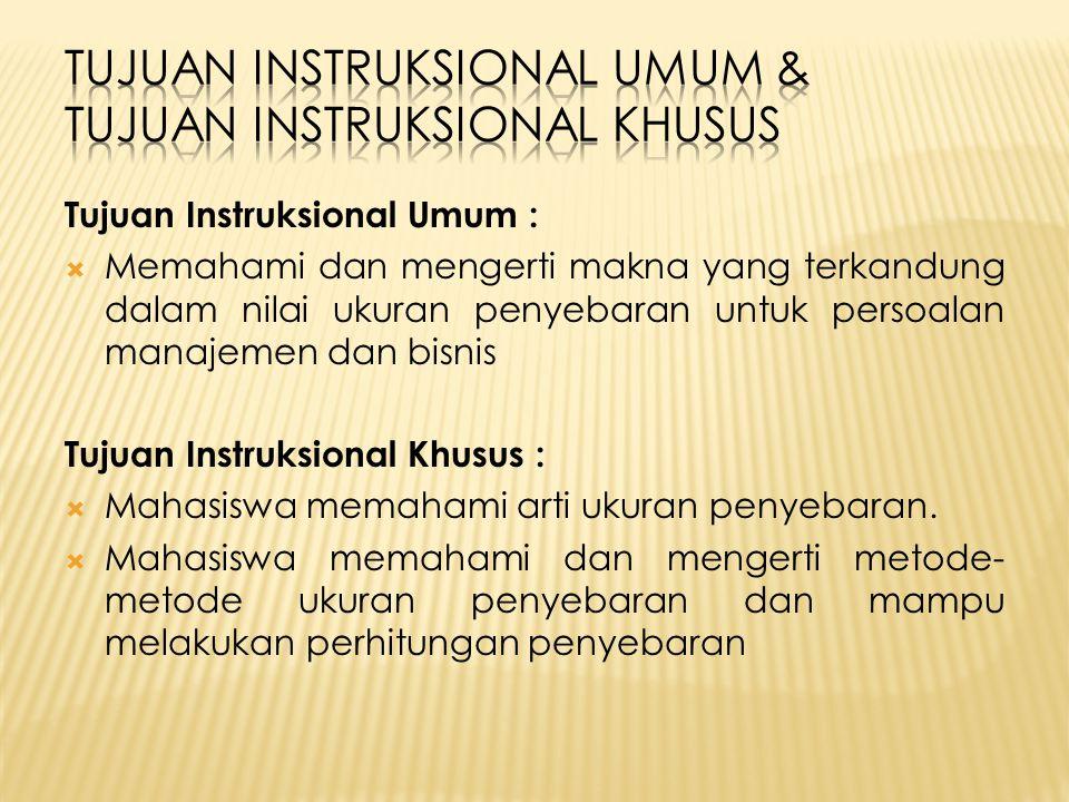 Tujuan Instruksional Umum & Tujuan Instruksional Khusus