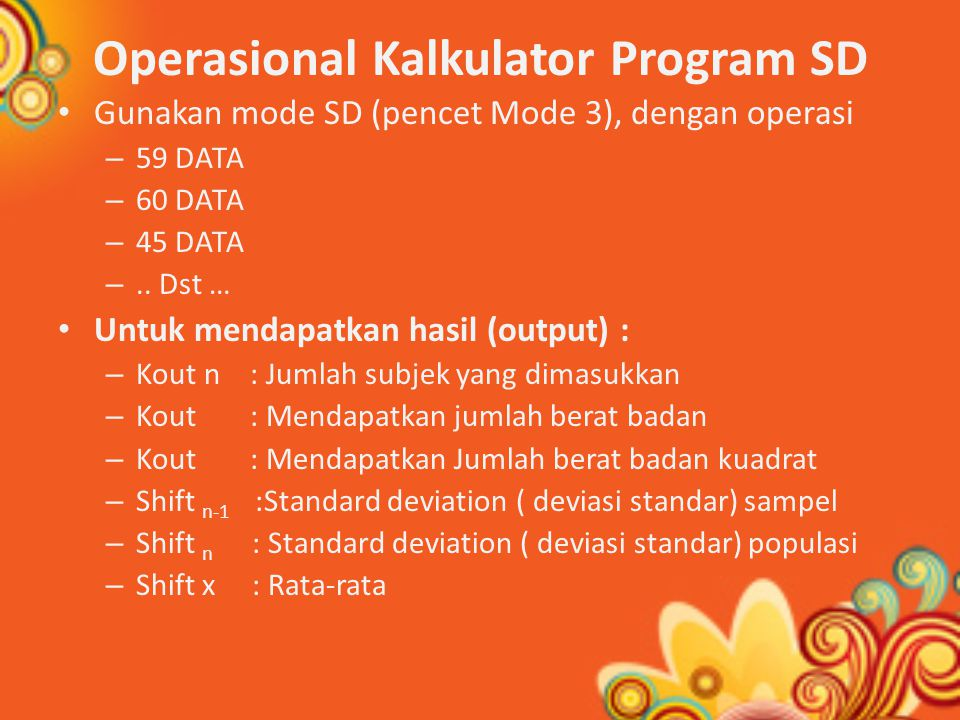 Operasional Kalkulator Program SD