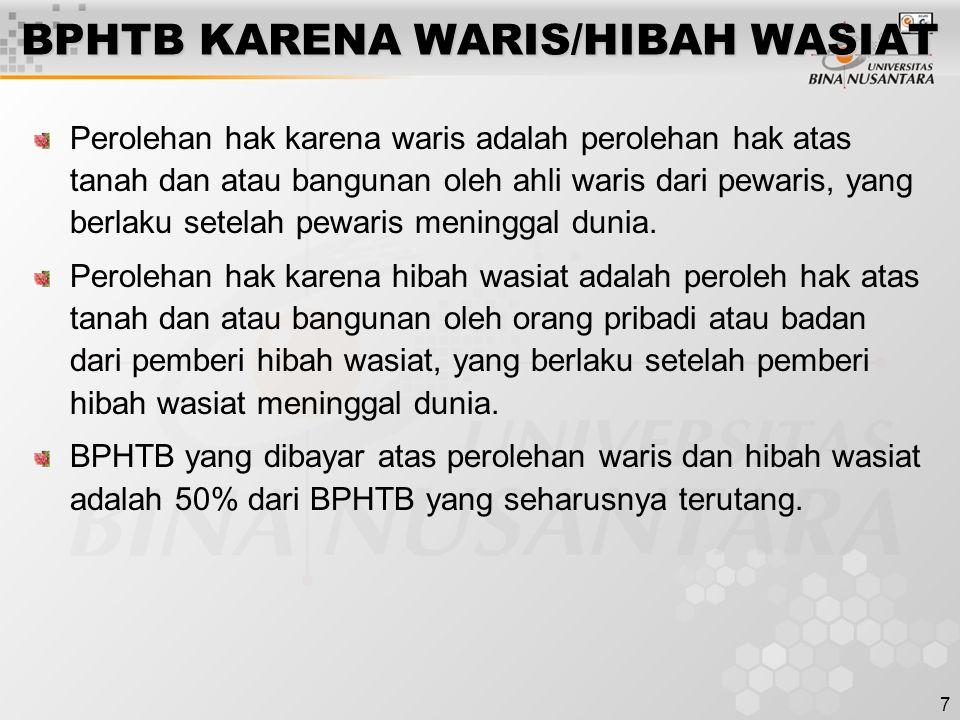 BPHTB KARENA WARIS/HIBAH WASIAT