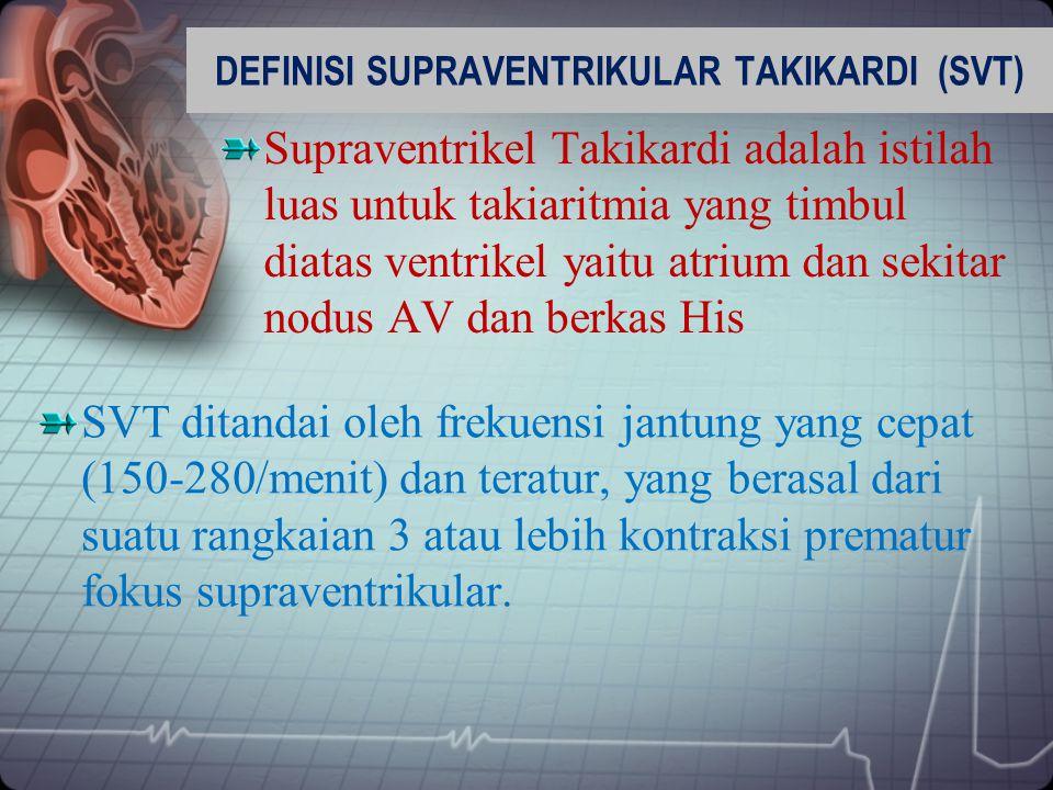 DEFINISI SUPRAVENTRIKULAR TAKIKARDI (SVT)