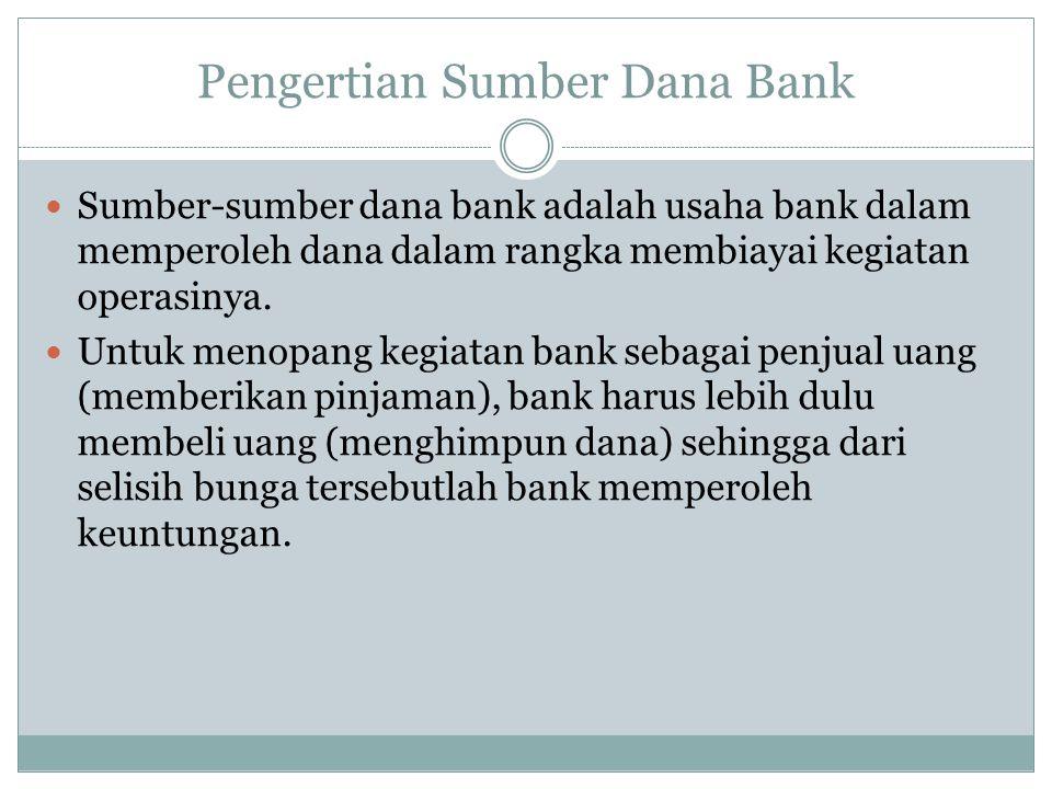 Pengertian Sumber Dana Bank