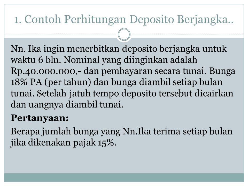 1. Contoh Perhitungan Deposito Berjangka..