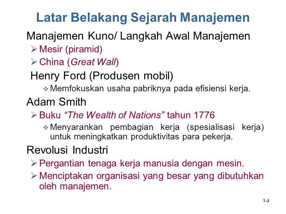 Latar Belakang Sejarah Manajemen