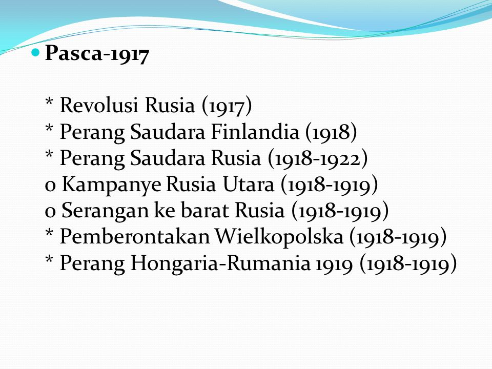 Pasca-1917. Revolusi Rusia (1917). Perang Saudara Finlandia (1918)