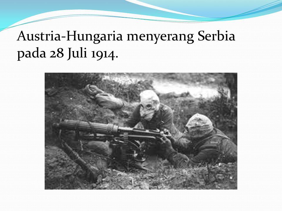 Austria-Hungaria menyerang Serbia pada 28 Juli 1914.