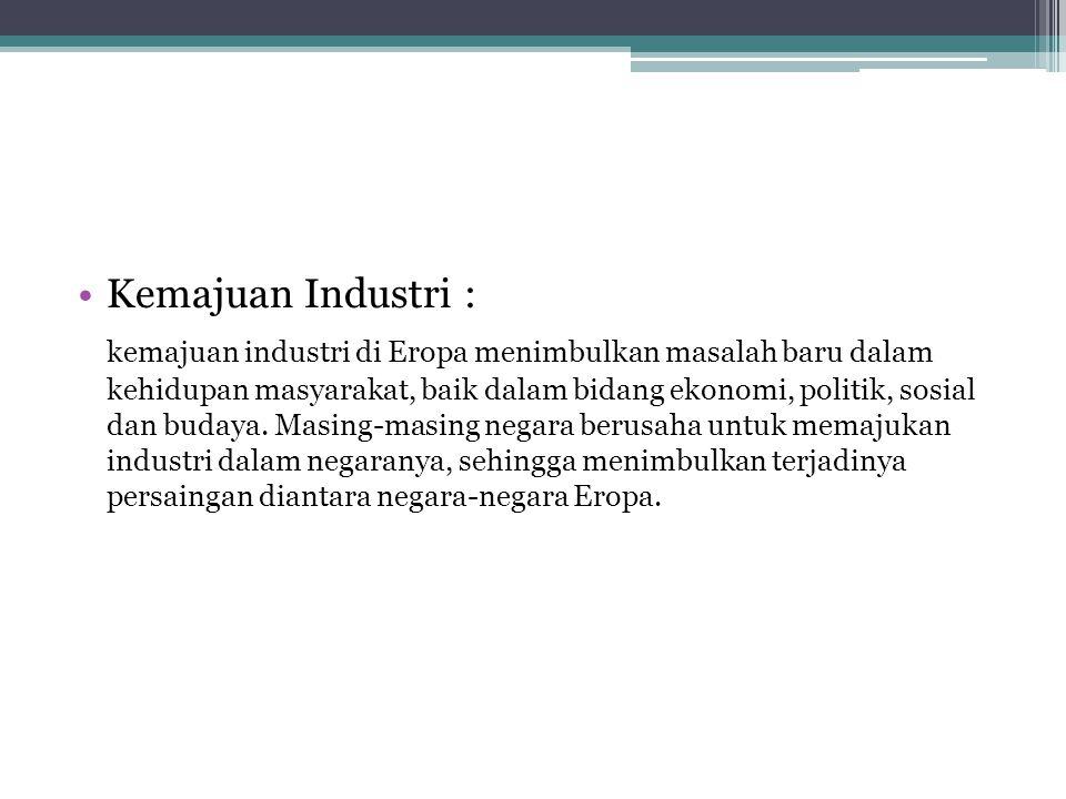 Kemajuan Industri :