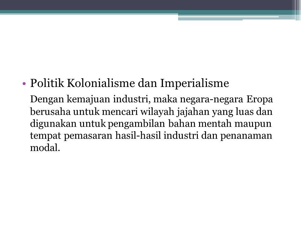 Politik Kolonialisme dan Imperialisme
