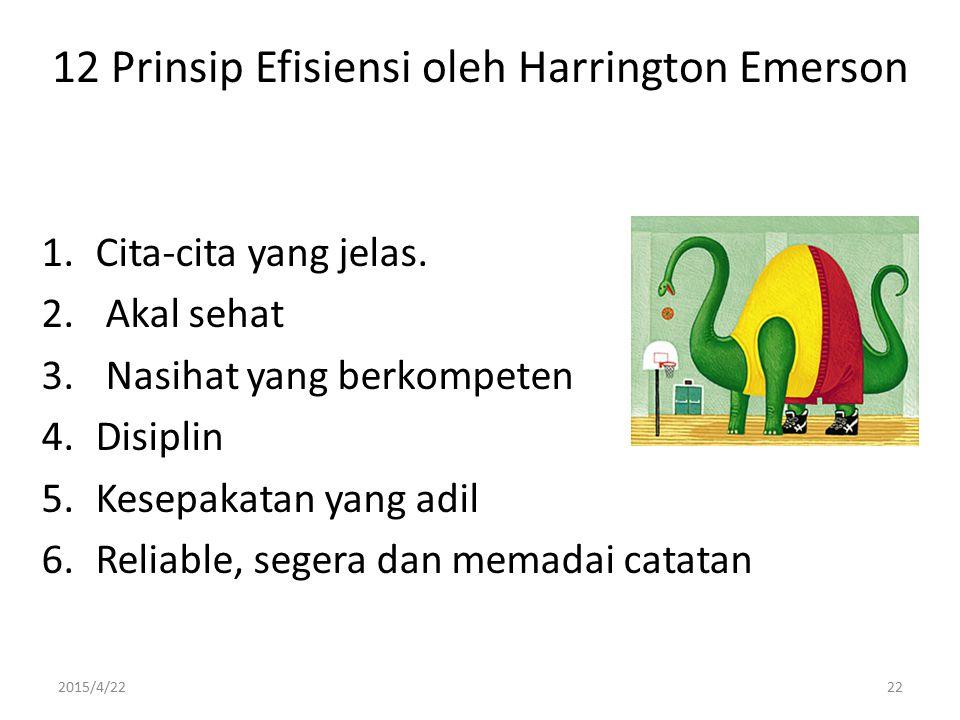 12 Prinsip Efisiensi oleh Harrington Emerson