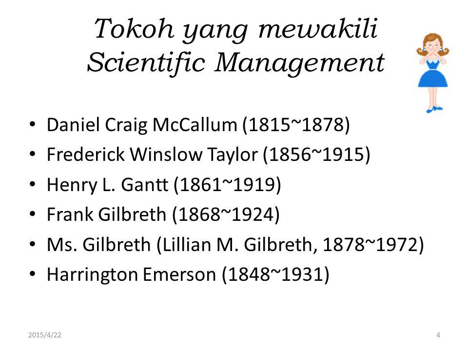Tokoh yang mewakili Scientific Management