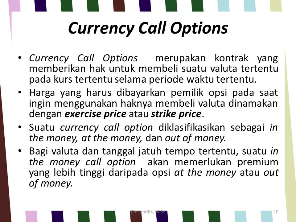 Currency Call Options